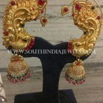 Gold Jhumka With Ear Cuff
