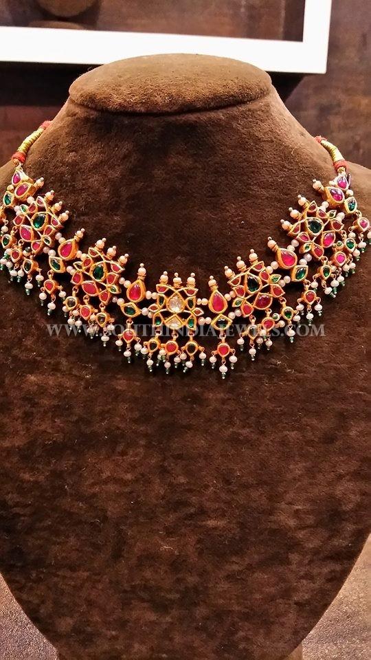 Gold Kemp Ruby Choker Necklace