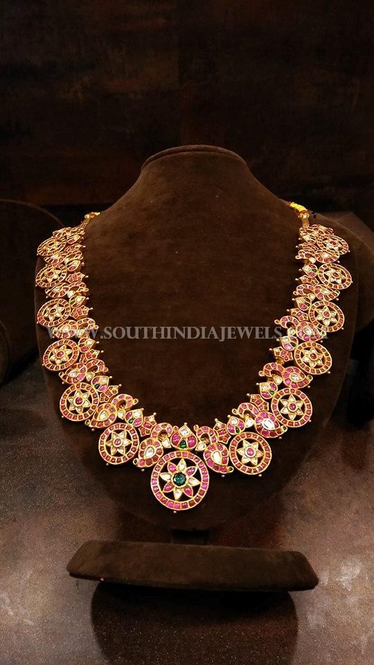 Gold Ruby Medium Length Haram Design