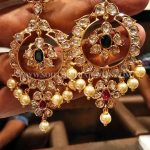 Big Gold Uncut Diamond Earrings Design