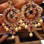 Big Gold Uncut Diamond Earrings Design