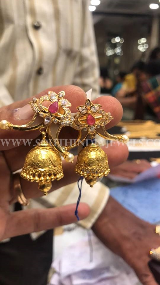 17 Grams Gold Jhumka Design