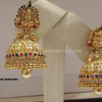 20 Grams Gold Lakshmi Jhumka Design
