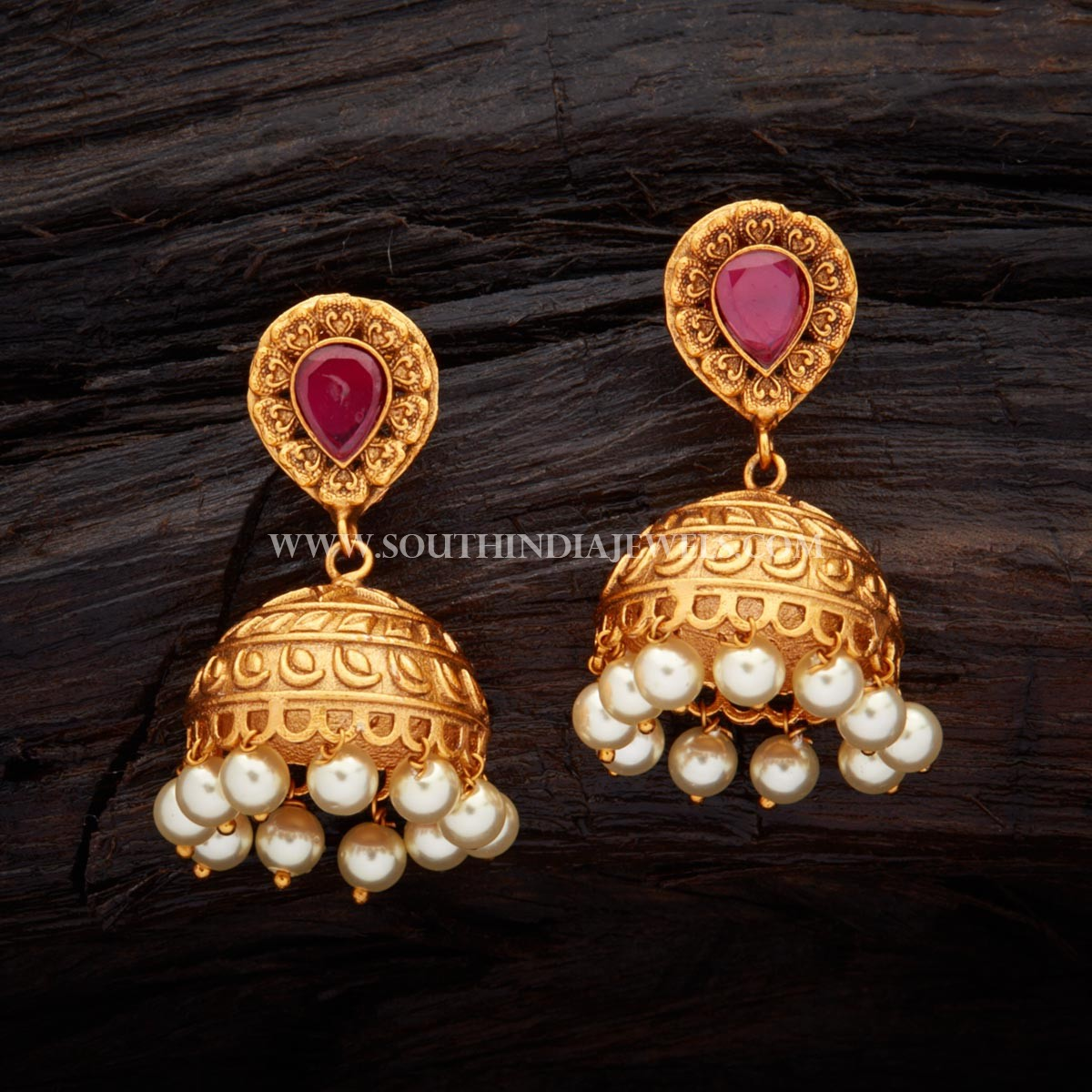 Antique Ruby Earrings From Kusha Fashion Jewellery
