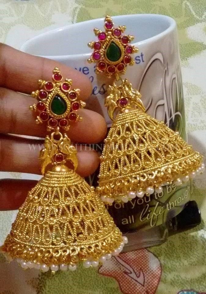 Broad Imitation Jhumka Design