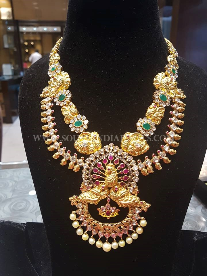 Gold Two Layer Pachi Necklace
