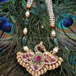 Gold Pearl Mala With Kundan Pendant