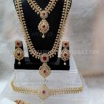 Gold Plated AD Bridal Jewellery Set