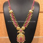 Gold Ruby Mango Haram From Naj Jewellery