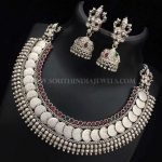 Silver Coin Necklace With Jhumka