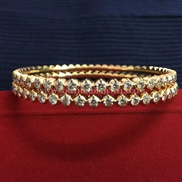 Single Row Diamond Bangle Designs