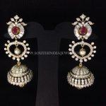 Diamond Long Jhumka Earrings From Arka Diamond