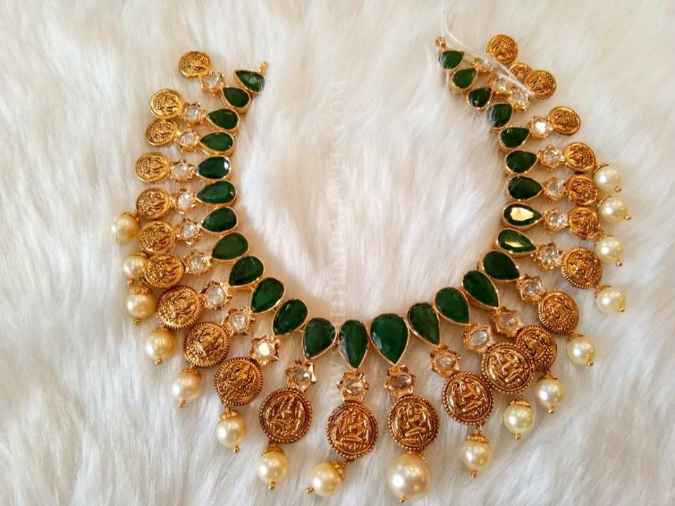 Gold Emerald Necklace From Mor Jewellers