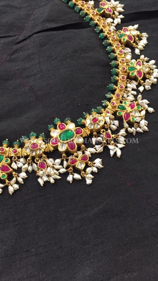 Gold Emerald Guttapusalu From Big Shop