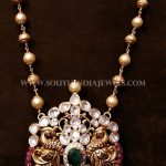Gold Pearl Chain With Antique Pendant