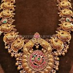 South Indian Style Gold Temple Necklace