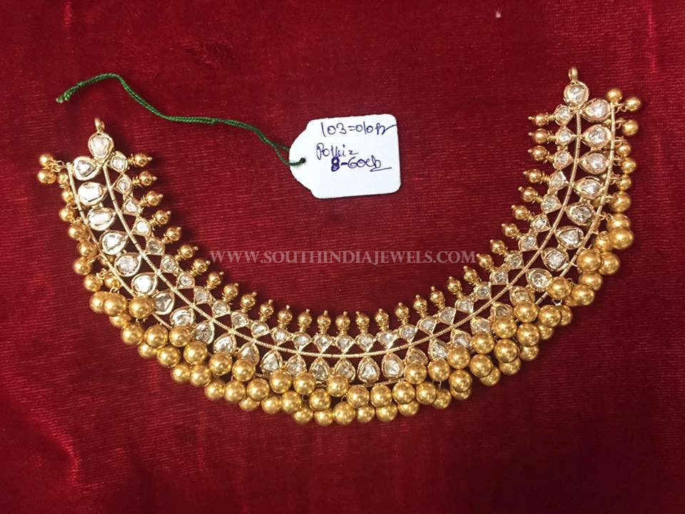 Gold Tussi Choker Necklace