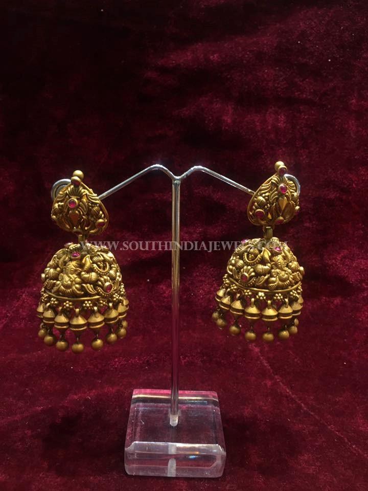 Gold Matt Finish Jhumka From Big Shop