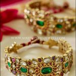 70 Grams Gold Polki Bangle Design