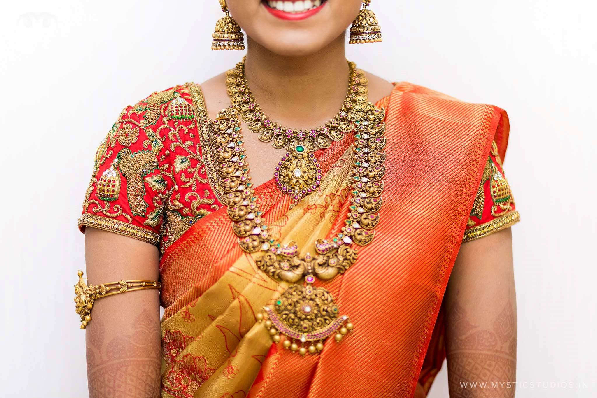 Indian Gold Jewellery On Bride