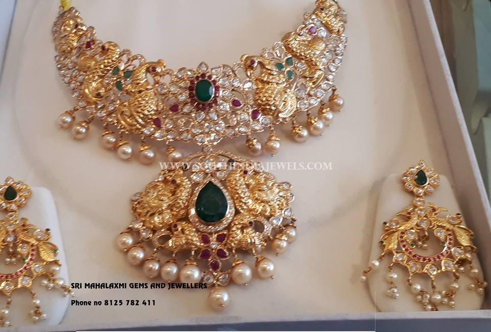 Ruby Emerald Necklace From Sri Mahalaxmi Gems & Jewellers