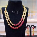 Two Layer Step Ruby Necklace