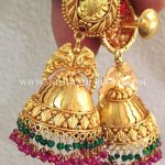 22 Carat Bold Antique Jhumka Design