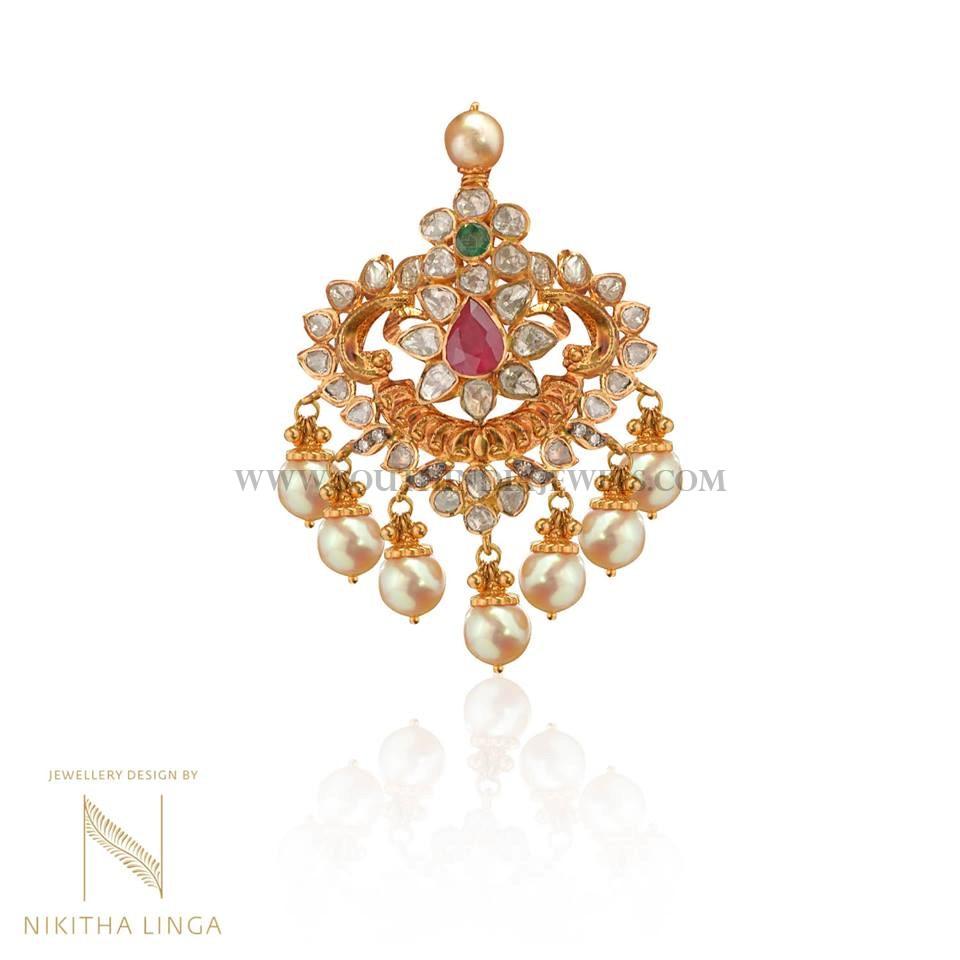 Gold Antique Pendant Nikitha Linga