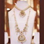 Gold Bridal Necklace Set From Dinesh Jewellers