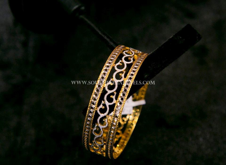 Big Gold Designer Bangle