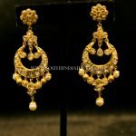 Gold Designer Chandbali From Dinesh Jewellers