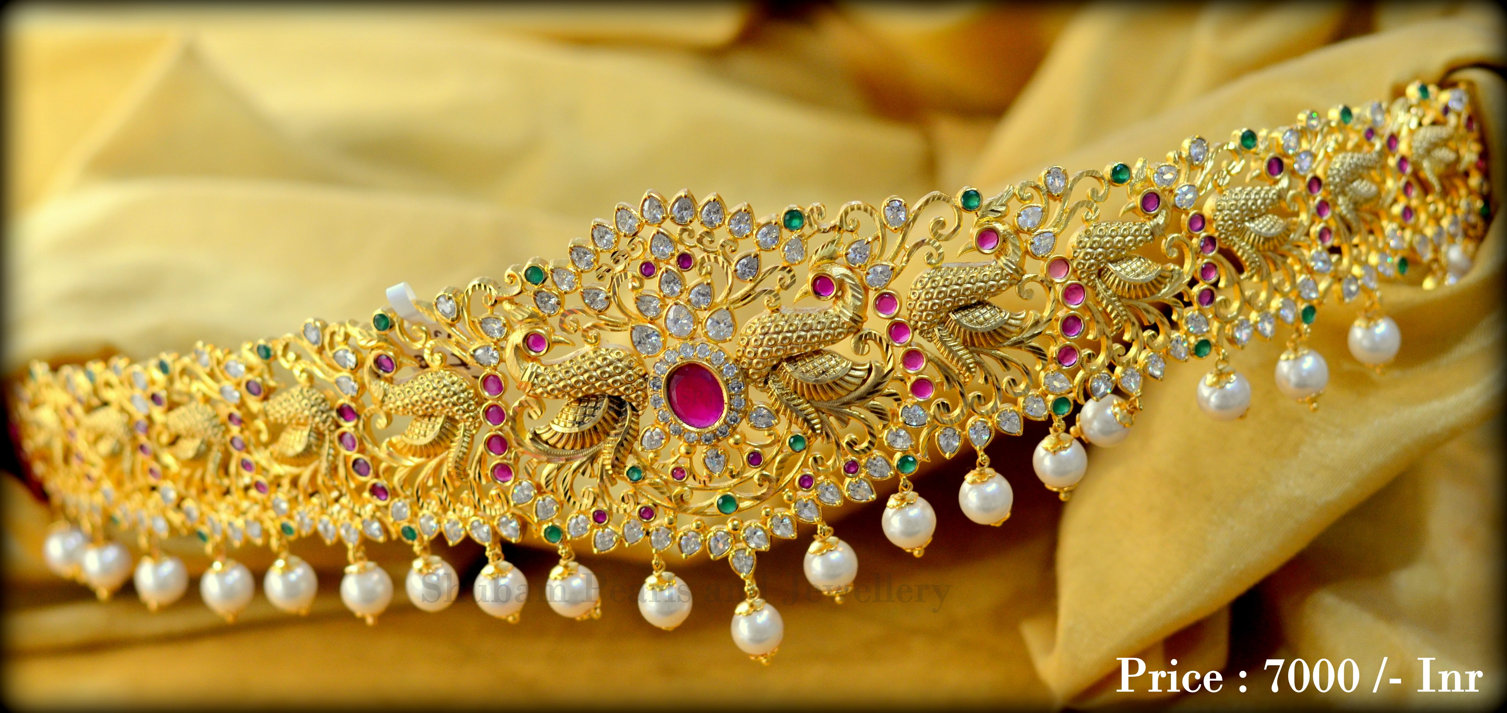 Gold Plated Vadanam From Shubam Pearls and Jewellery