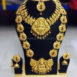 Matt Finish Bridal Antique Jewellery Set For Rent