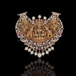 Nakshi Work Diamond Temple Pendant