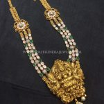 Gold Antique Step Necklace Model