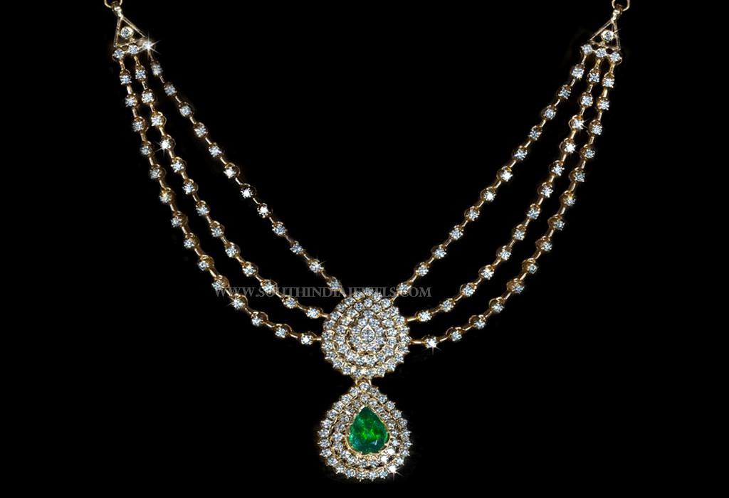 Three Step Diamond Chain Necklace