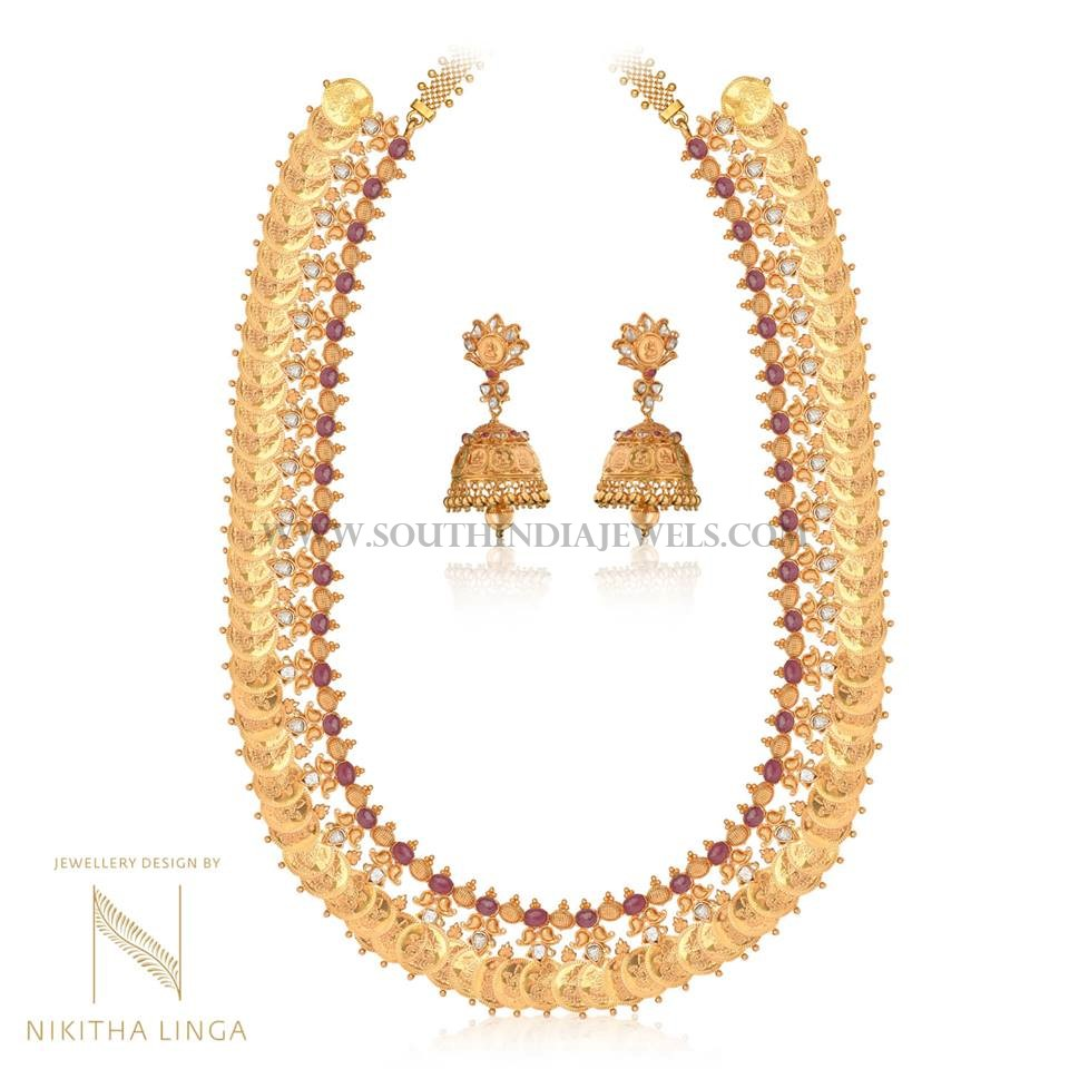 Traditional Gold Haram With Jhumka