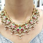 22KT Gold Guttapusalu Necklace From Kothari Jewellery