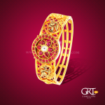 Antique Gold Kada Bangle From GRT Jewellers
