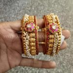 Antique Pearl Ruby Bangle