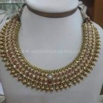 Latest Gold Antique Ruby Choker