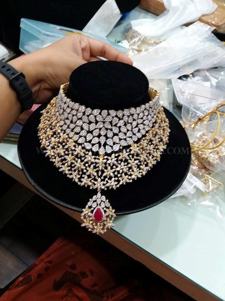 Diamond Choker Necklace From Vajra Jewellery