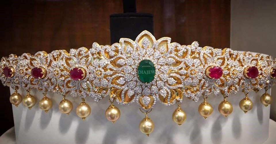 Diamond Vadanam From Nakoda Jewellers