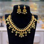 Gold Plated Latest Guttapusalu Necklace Set