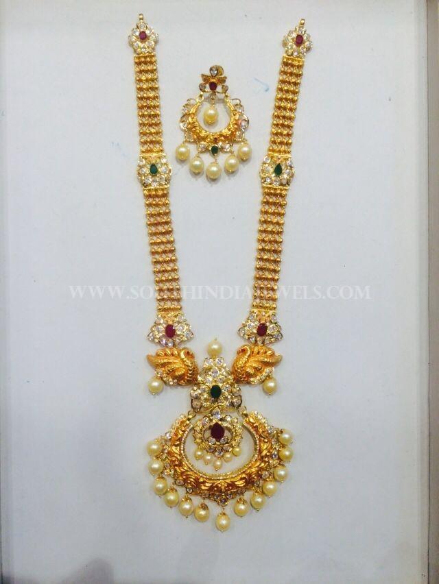 Gold Pachi Haram Design From Nakoda Jewellery