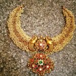 Gold Clustered Bead Necklace