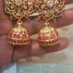 Bold Gold Ruby Kemp Jhumka