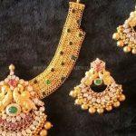 22K Gold Short Choker & Earrings