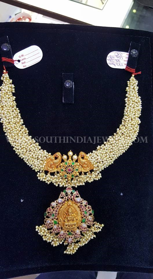 Pearl Antique Necklace From Nakoda Jewellers