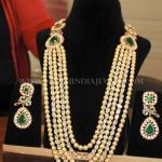 Pearl Diamond Haram With Matching Earrings